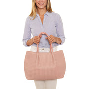 Dusty Pink Napa Vegan Leather Tote