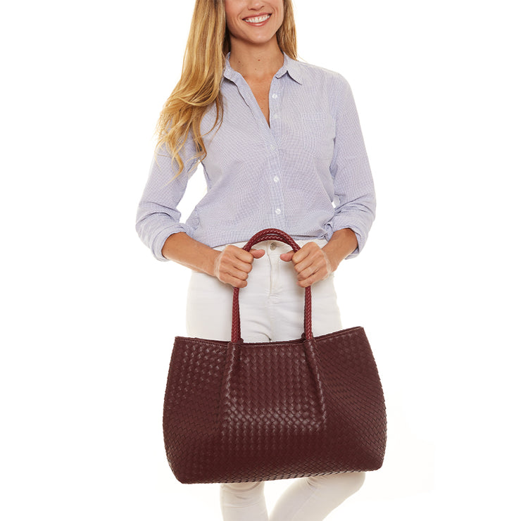 Burgundy Wine Napa Vegan Leather Tote