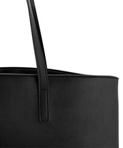 Black Vegan Leather Tote