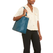 Blue Napa Vegan Leather Handbag