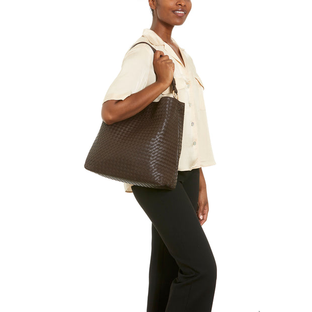 Brown Napa Vegan Leather Handbag