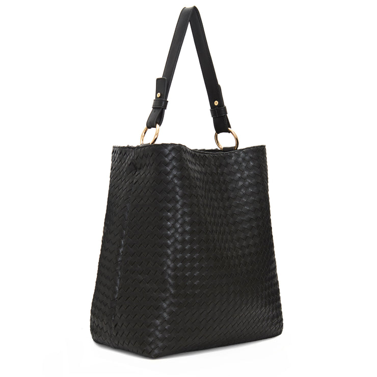 Black Napa Vegan Leather Handbag