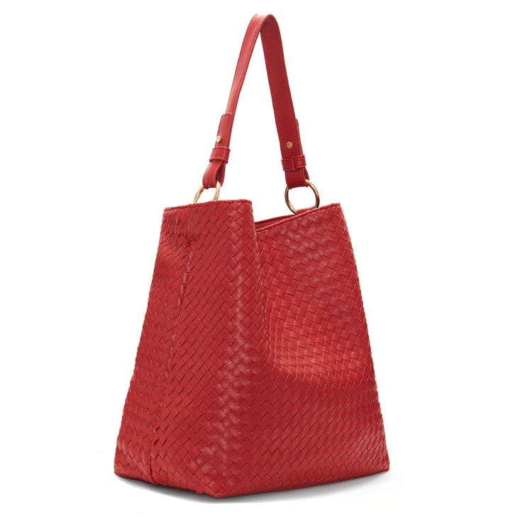 Red Napa Vegan Leather Handbag