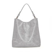 Light Grey Snake Skin Handbag