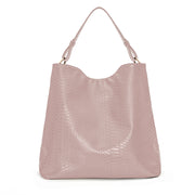 Dusty Rose Snake Skin Handbag