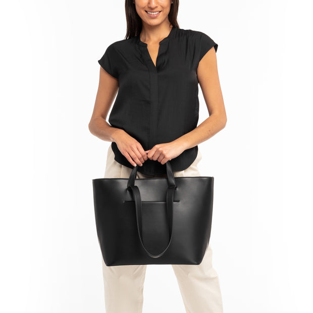 Black Double Handle Tote
