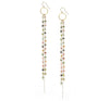 Tourmaline and Chain Earrings