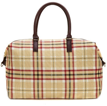 Balfour Plaid Overnight Bag