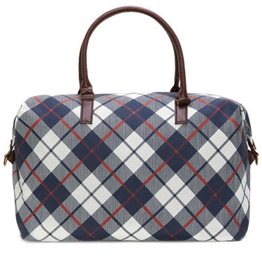 Bassett Plaid Overnight Bag