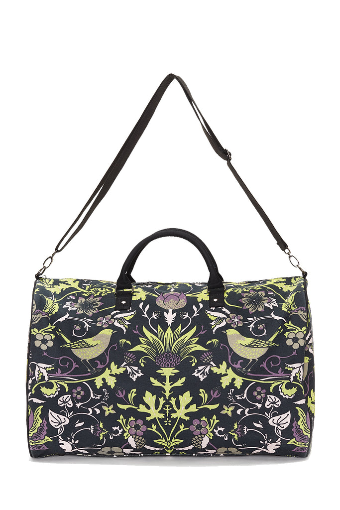 Black with Lime Thorn & Thistle Carpet Bag