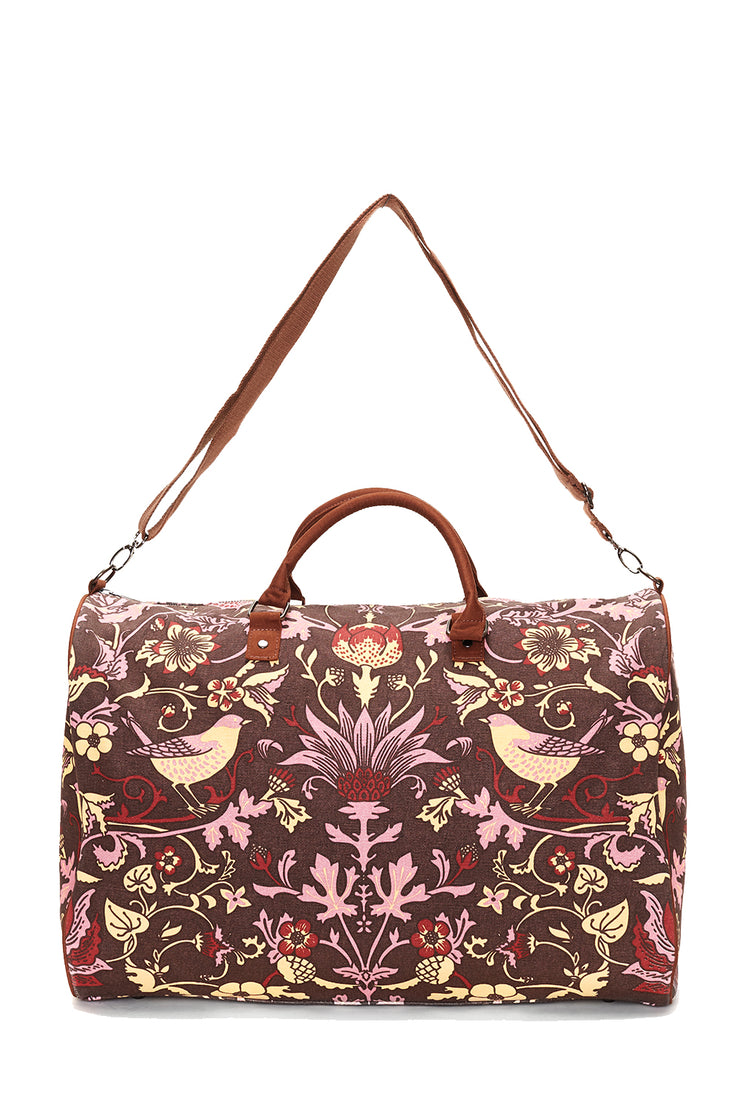 Brown with Rose Thorn & Thistle Carpet Bag