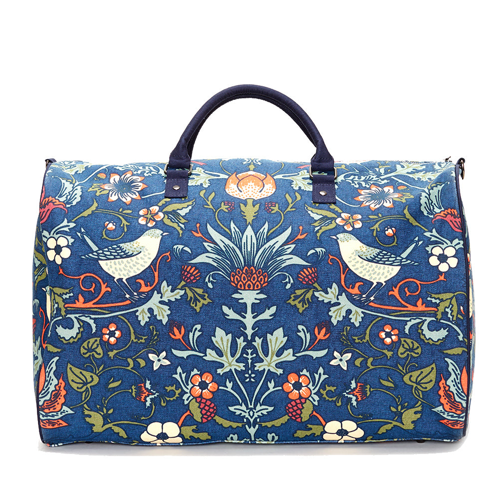 Indigo with Orange Thorn & Thistle Carpet Bag