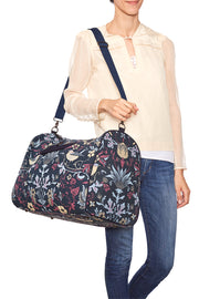 Navy with Sky Thorn & Thistle Carpet Bag