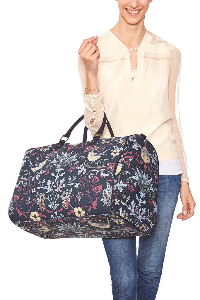 Pre-Order Navy with Sky Thorn & Thistle Carpet Bag