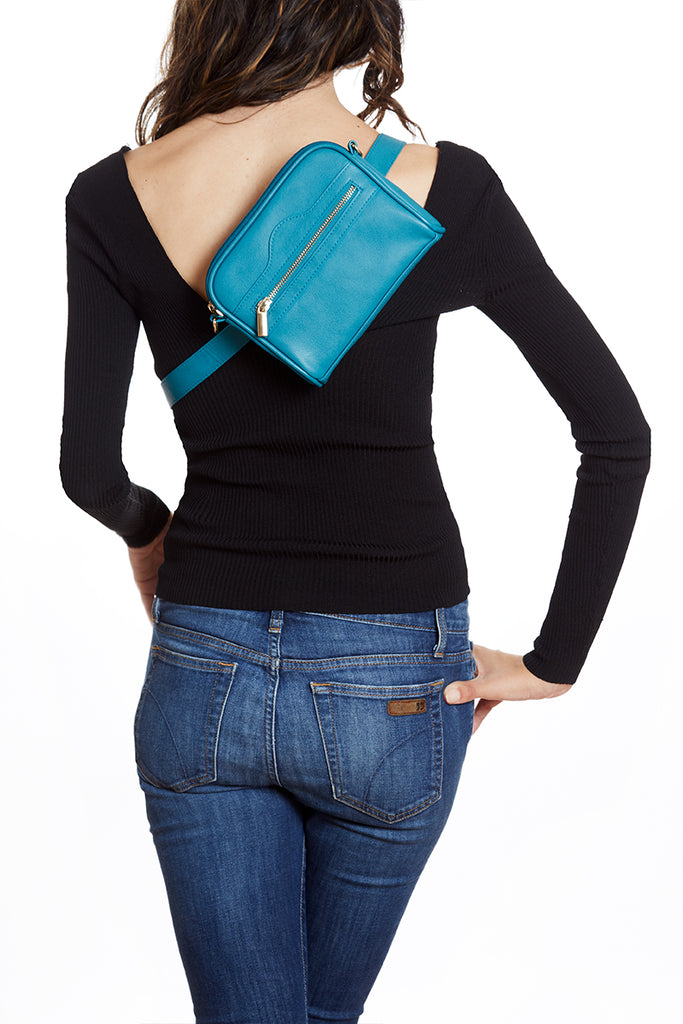 Teal Vegan Pret-A-Porter Belt Bag