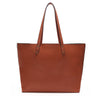 Backordered Cognac Vegan Leather Tote