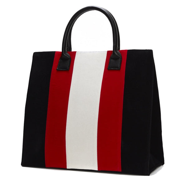 Victory Velvet Racing Striped Bags