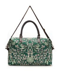 Green Vintage Wallpaper Overnight Bag
