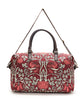 Red Vintage Wallpaper Overnight Bag