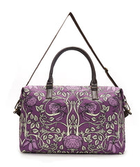 Violet Vintage Wallpaper Overnight Bag