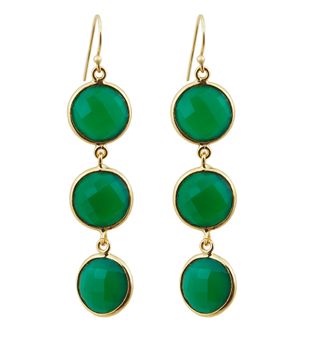 Green Onyx Alchemy Drop Gemstone Earrings