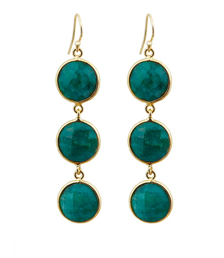 Precious Emerald Alchemy Drop Gemstone Earrings