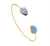 Indigo Chalcedony Teardrop Gemstone Bangle