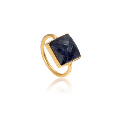 Sapphire Square Gemstone Stacking Ring