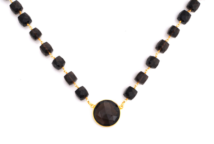 Lulu Dharma Smokey Quartz Venus Necklace