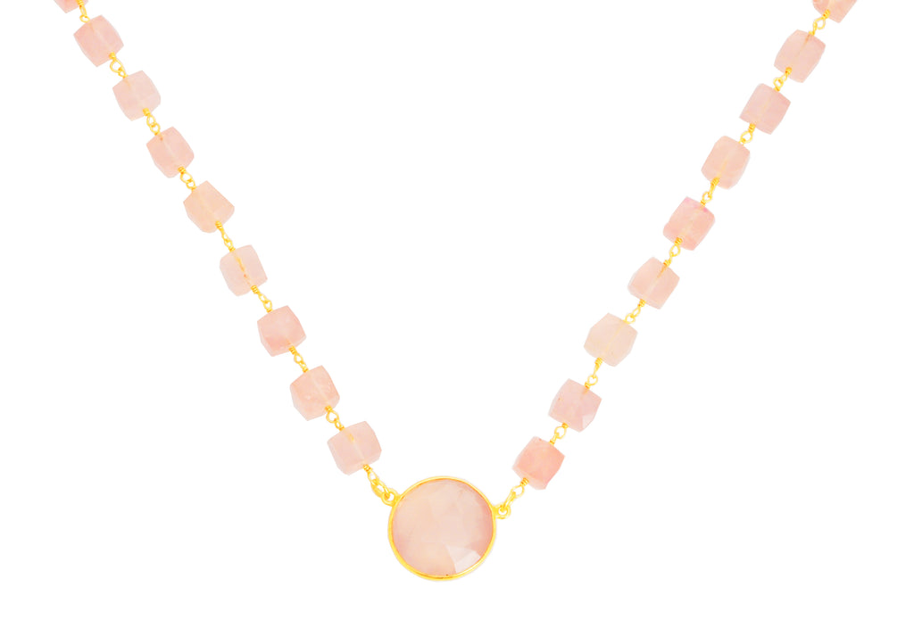Lulu Dharma Rose Quartz Venus Necklace