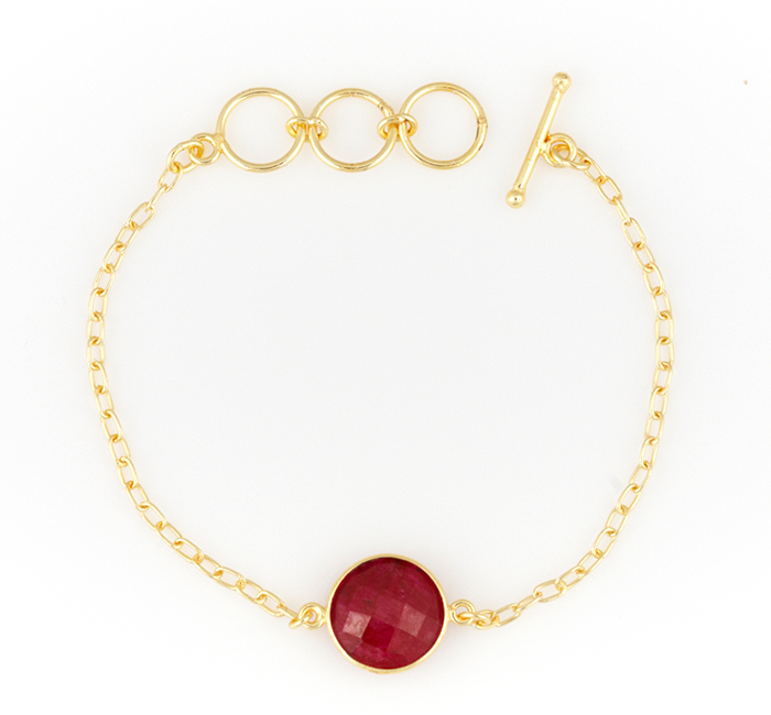 Precious Ruby Single Stone Alchemy Bracelet