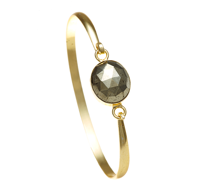 Pyrite Ileina Bangle