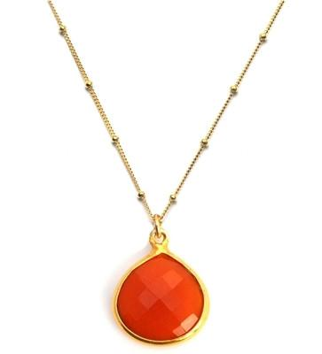 Lulu Dharma Red Onyx Inspiration Chain Necklace