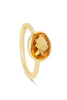 Citrine and Gold Oval Gemstone Ring