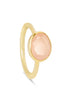 Pink Chalcedony and Gold Oval Gemstone Ring