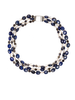Lapis, Iolite and Faceted Clear Quartz Halo Gemstone Choker