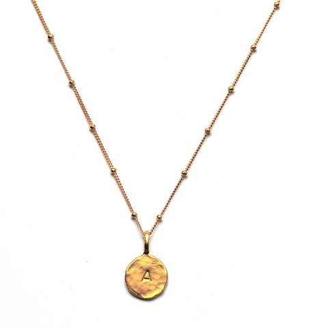 Sacred Jewels Gold Initial Charm Necklace
