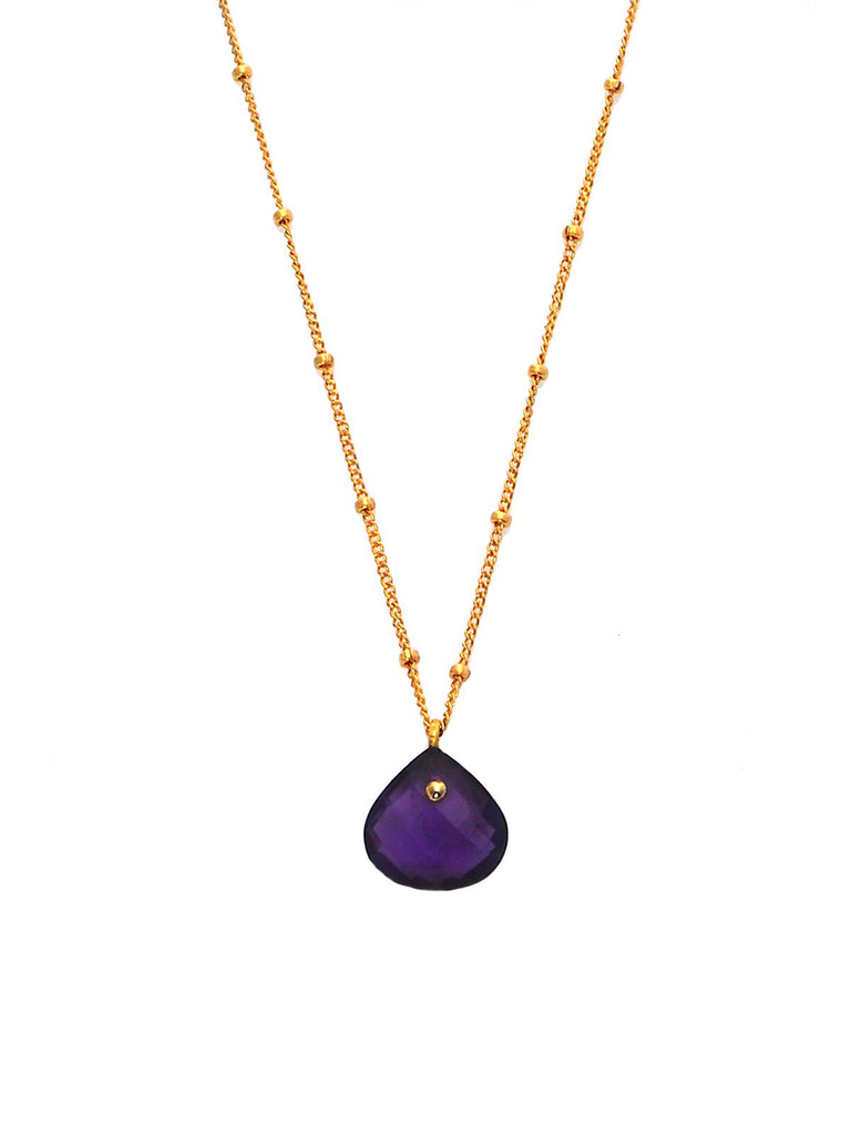 Amethyst Simplicity Rocks Necklace