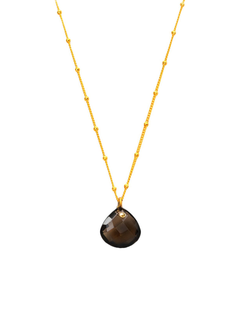 Smoky Quartz Simplicity Rocks Necklace