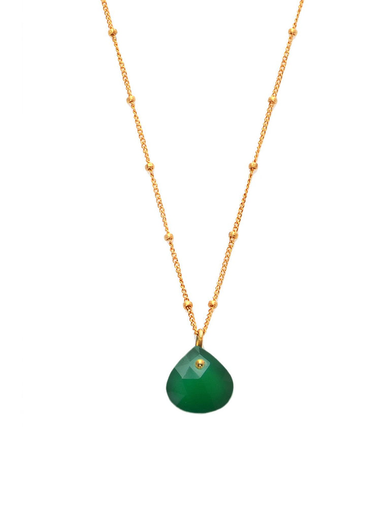 Green Onyx Simplicity Rocks Necklace