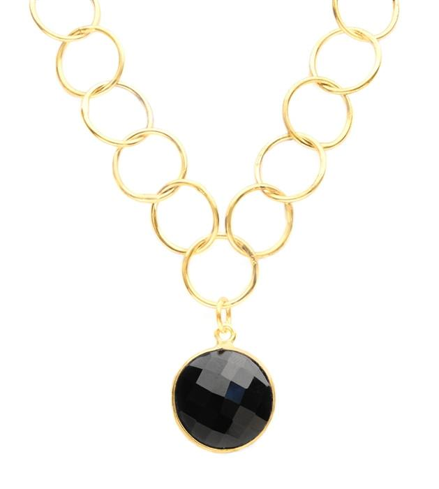 Lulu Dharma Black Onyx Unity Necklace