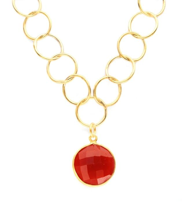 Lulu Dharma Red Onyx Unity Necklace