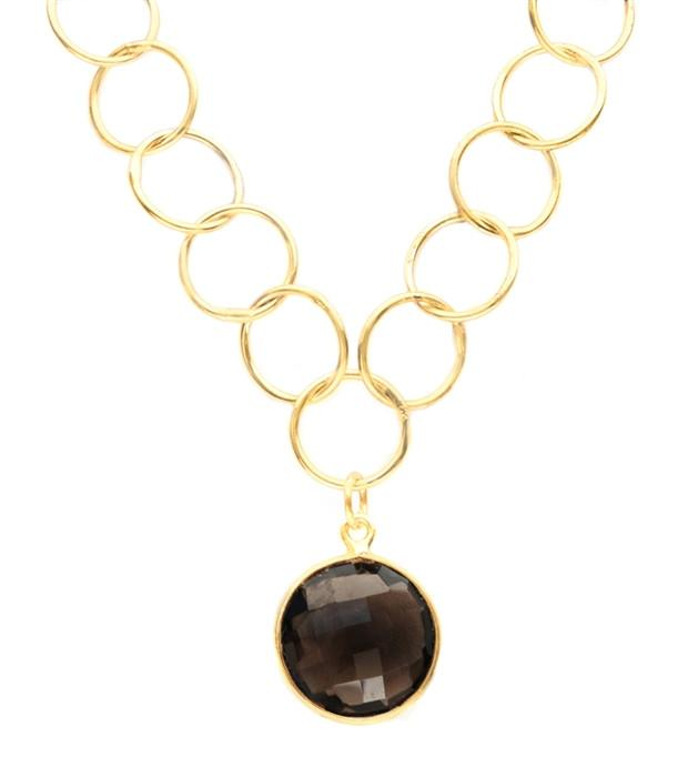 Lulu Dharma Smoky Quartz Unity Necklace