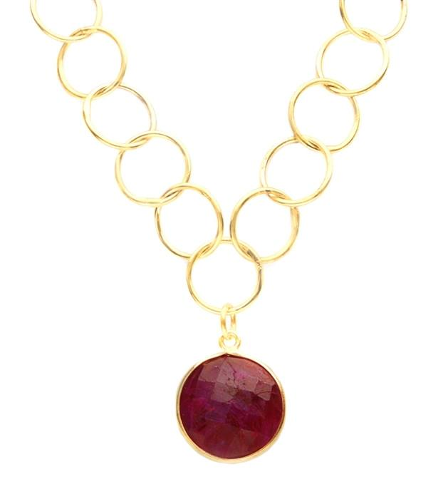 Lulu Dharma Precious Ruby Unity Necklace