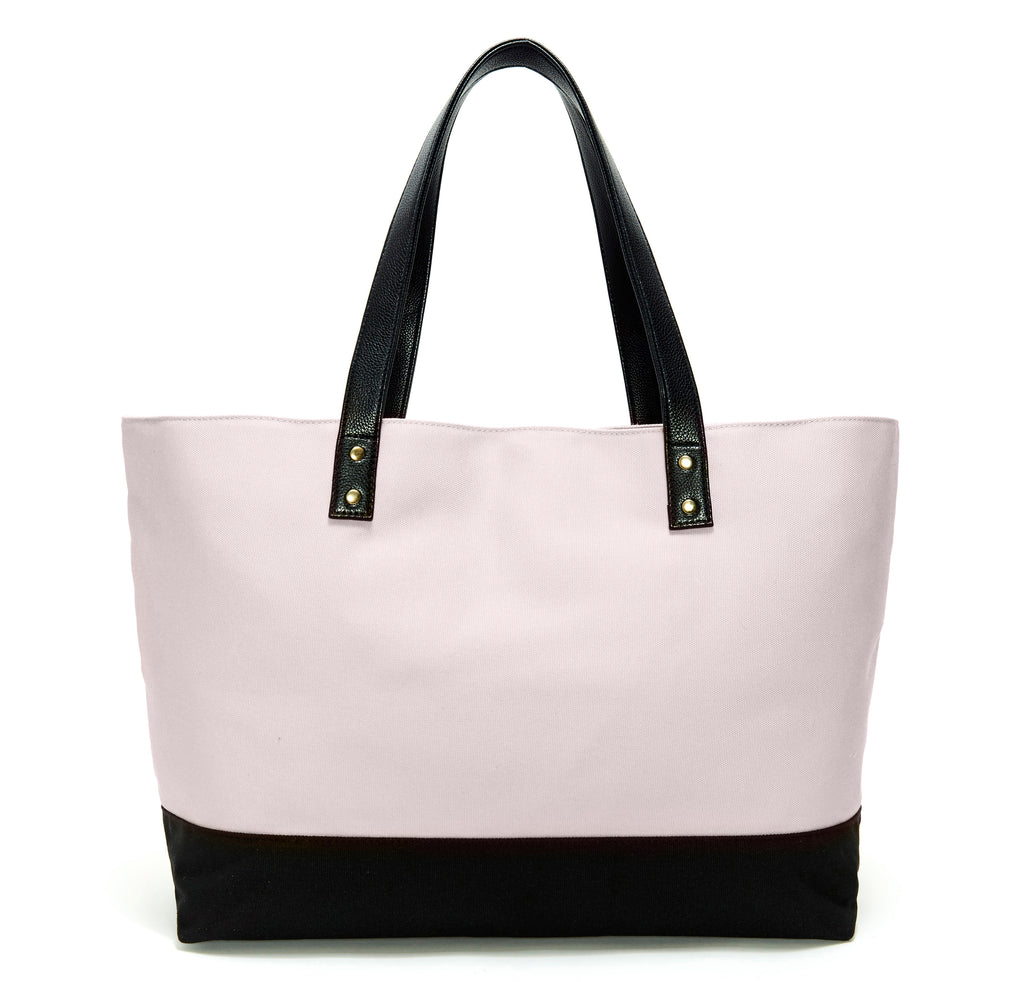 Taupe & Black Midnight Garden Dual Tote