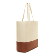 Natural / Cognac Dual Vegan Leather Tote