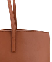 Cognac Vegan Leather Tote