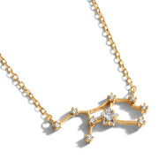 Virgo Zodiac Constellation Necklace