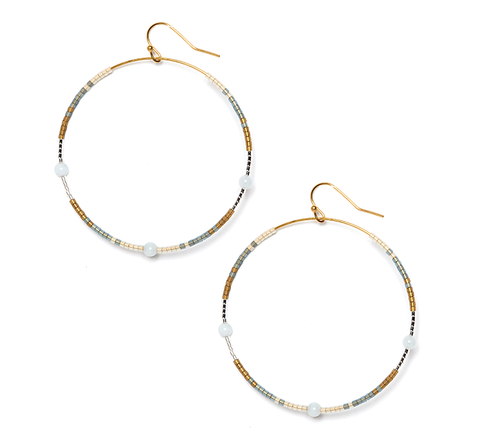 Aqua Marine Andalusia Hoop Earrings