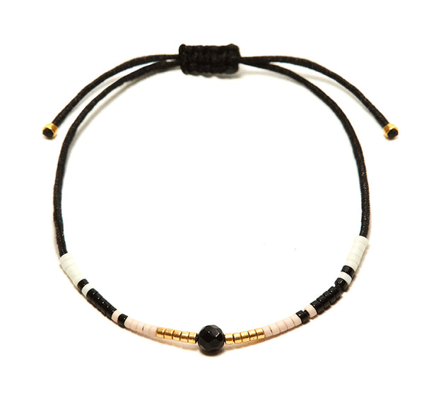 Black Onyx Andalusia Black String Bracelet